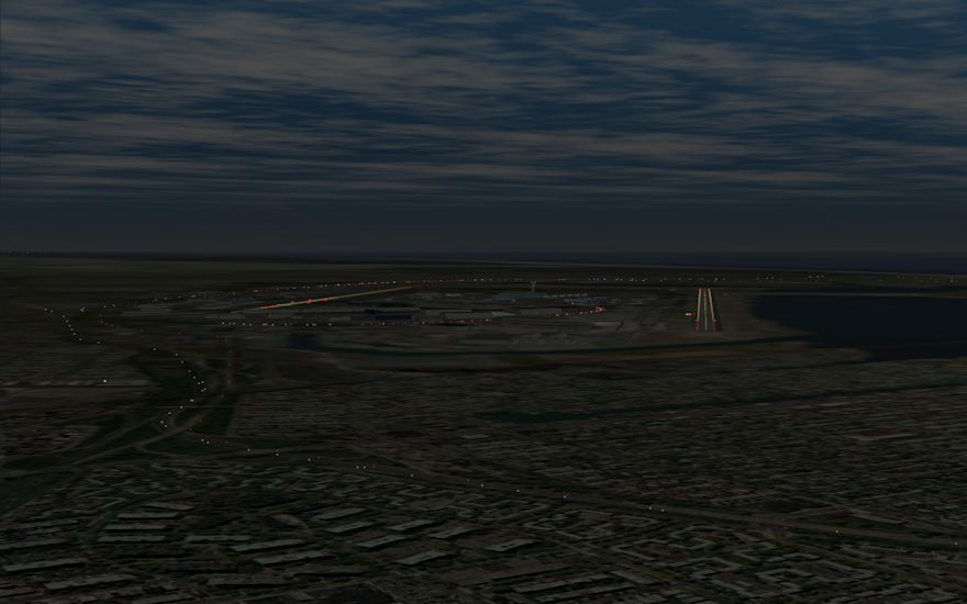 With Air Training Support's new high resolution visuals, airports and environments are rendered in amazing detail. Details such as the VFR approach lighting system at JFK are not missed.