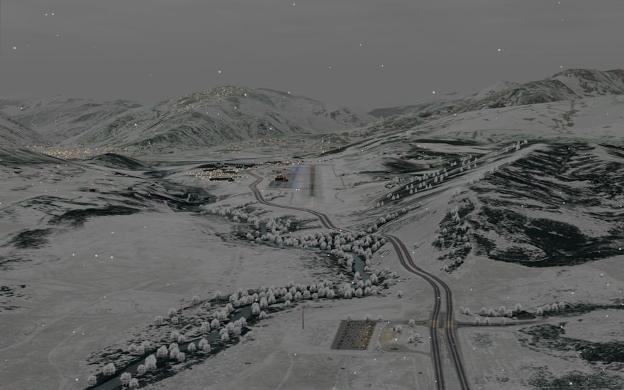 With Air Training Support's new high resolution visuals, airports and environments are rendered in amazing detail. Aspen (KASE) is depicted here with a typical VFR scenario.