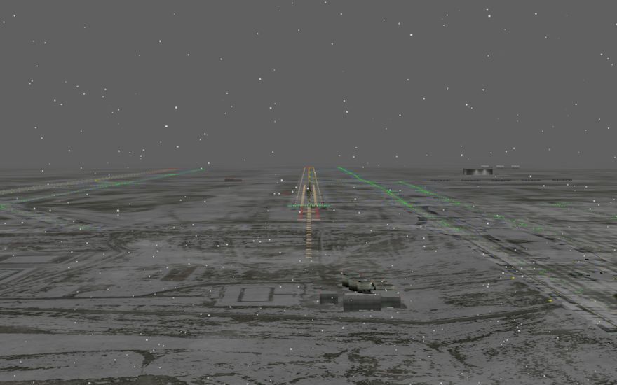 With our new visuals training for winter scenarios becomes much more realistic. Active lighting system will highlight the reflections and particles from the rain or snow. Blowing snow can be seen drifting across the surface.